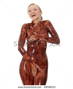 girl completely covered in cum