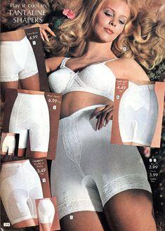 women in sheer panty girdles