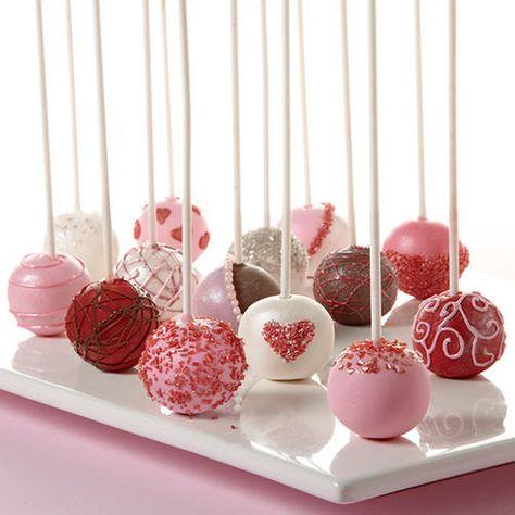Valentines Day Cake Pops by HeavenSentDesserts on Etsy