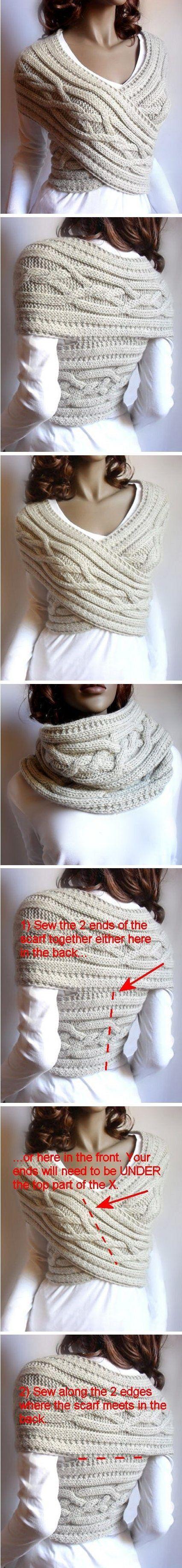 Make a scarf into a top
