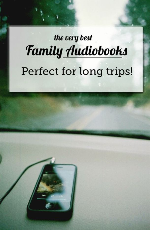 Family-friendly audiobooks for long car rides - these have made our summer traveling so much more enjoyable!::