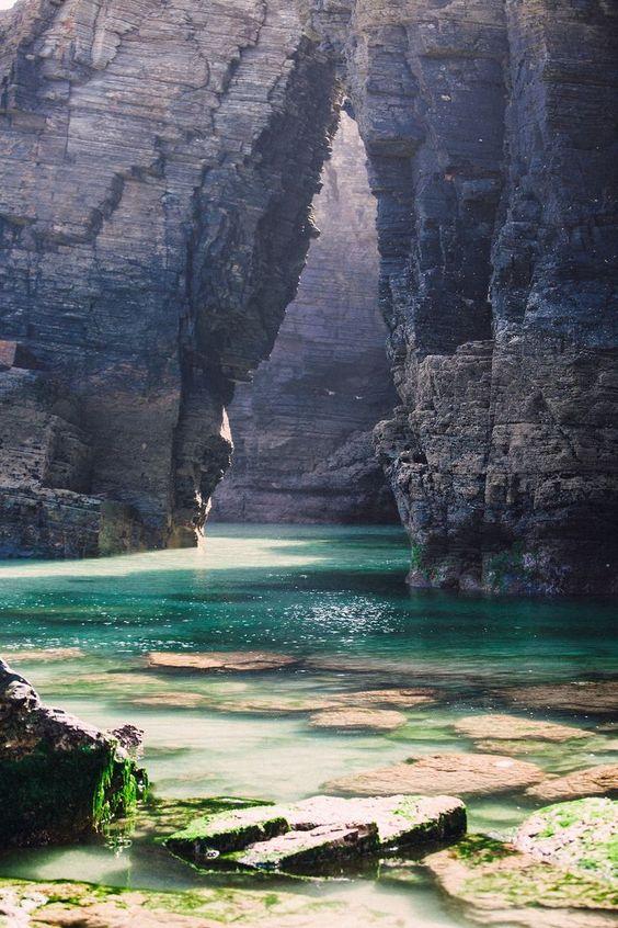 Cathedrals beach, Galicia, Spain: