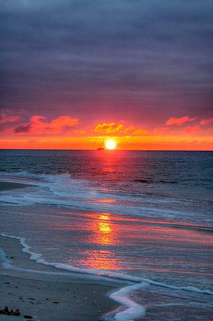 Sunrise at The Gulf Shores of Alabama: