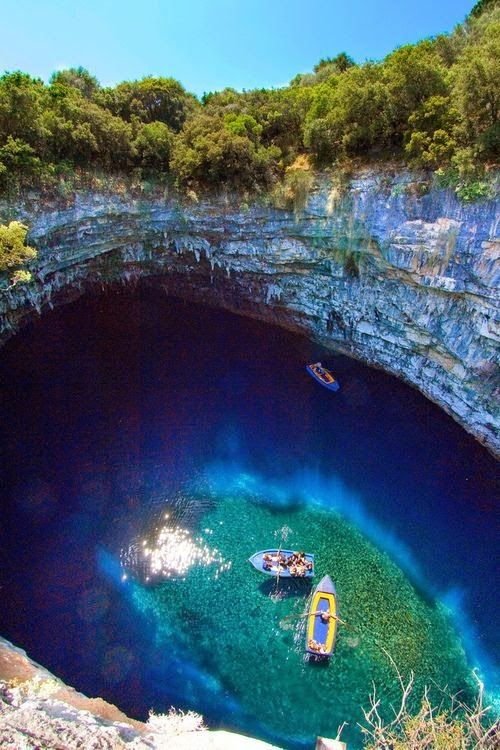 Melissani Cave, Kefalonia, Greece: