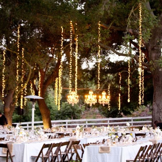 outdoor party hanging love the single strand lights as well lighting