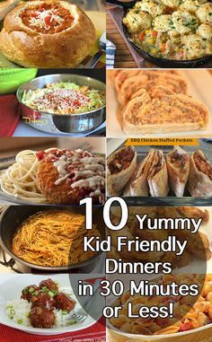 Best 30 Minute Dinner Recipes - Easy Midweek Meals! | Kid, We and Kid friendly meals