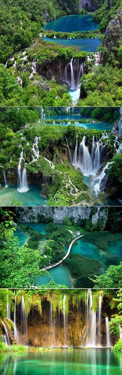 The Plitvice Lakes: They are a series of 16 lakes incorporated by amazing waterfalls and they are also part of the Croatian National Park : #travel #tour #trip #vacation #holiday #adventure #place #destinations #outdoors: