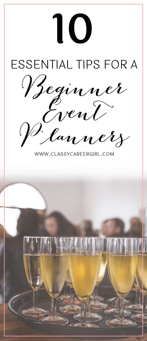 10 Essential Tips for a Beginner Event Planner: