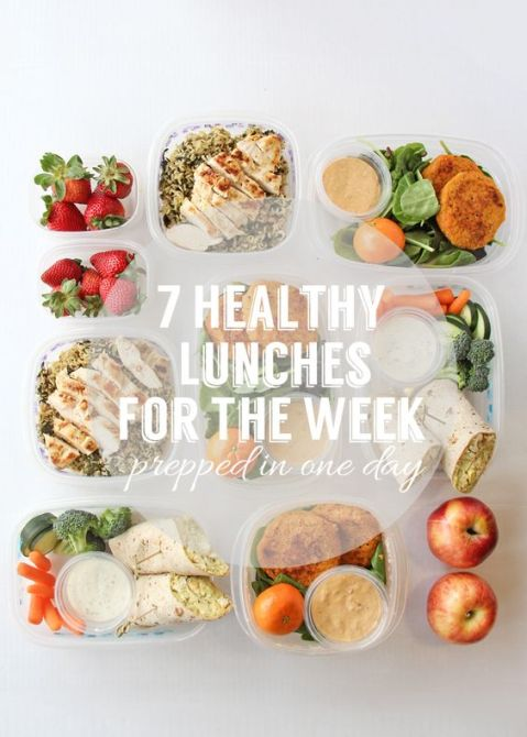 Prepare Seven Healthy Lunches For The Week: