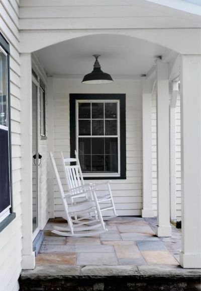 Black trim, Window trims and Porches on Pinterest
