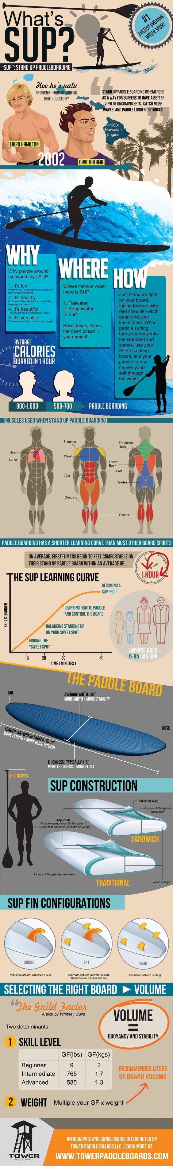Stand Up Paddleboarding infographic