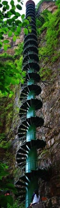 Amazing Places that will Leave you Without Words - Stairway to heaven, Taihang Mountains, Linzhou, China: