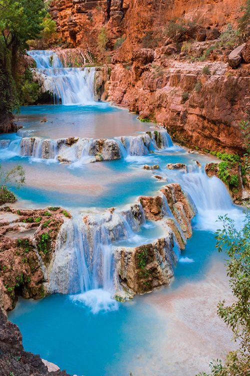 Beaver Falls on Havasu Creek, Grand Canyon, Arizona: