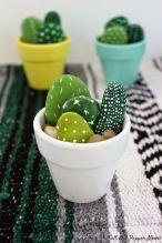 Hand Painted Mini Cactus