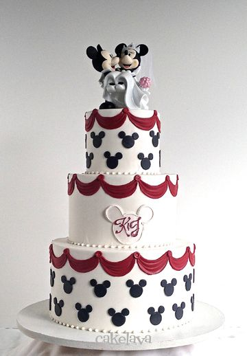 mickey and minnie wedding cake | Cakes of all kinds, for ...