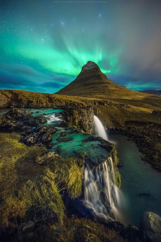 Kirkjufell Mountain in Grundarfjörður, Iceland Photo credit: Coolbiere. A. on 500px: