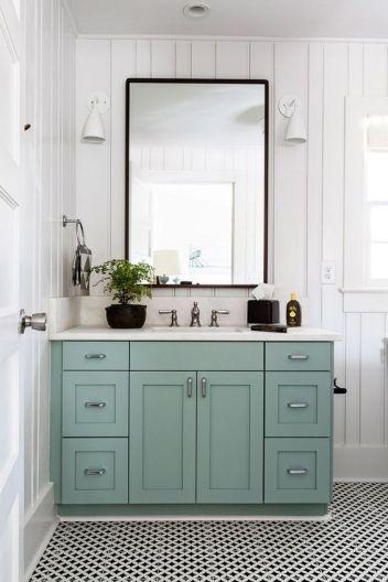 sea green bathroom cabinets