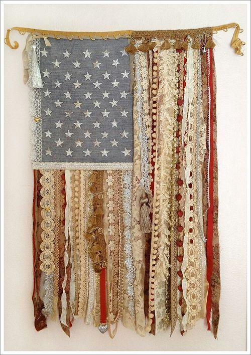 American Flag out of remnants:
