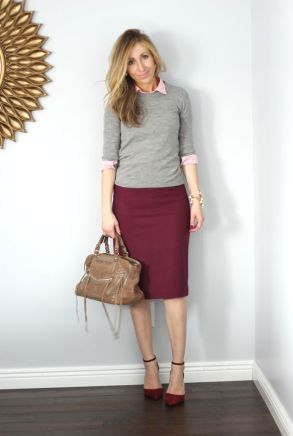 Sweater: old - almost exact style // Button down: old - similar here, here // Skirt - on...: