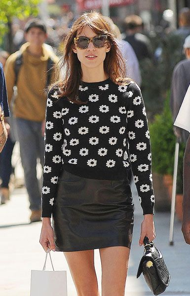 Como combinar minifalda de cuero: