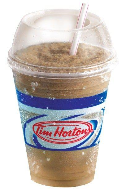 Tim Hortons Iced Cap! Chocolate milk, Nescafe's Ice Java, mix shake