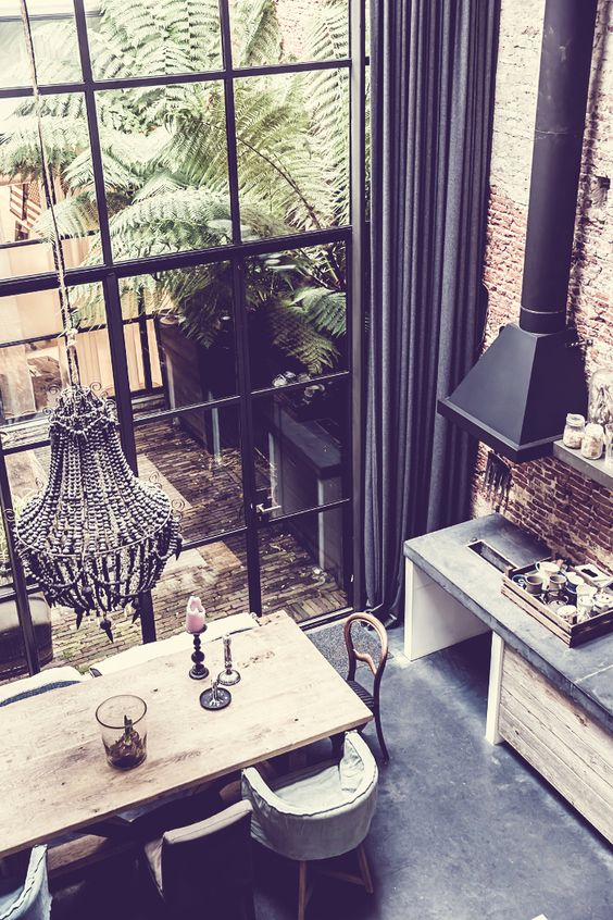 Love the wall of windows in this loft home in Amsterdam (via dustjacket attic):