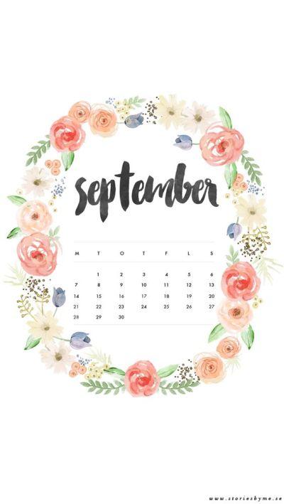 iPhone wallpaper september calendar | my blog ★ | Pinterest | iPhone wallpapers, Calendar and ...