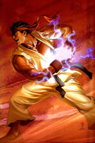 ryu hadouken - Android Wallpapers HD | Stuff to Buy | Pinterest | Street fighter, Anime art and ...