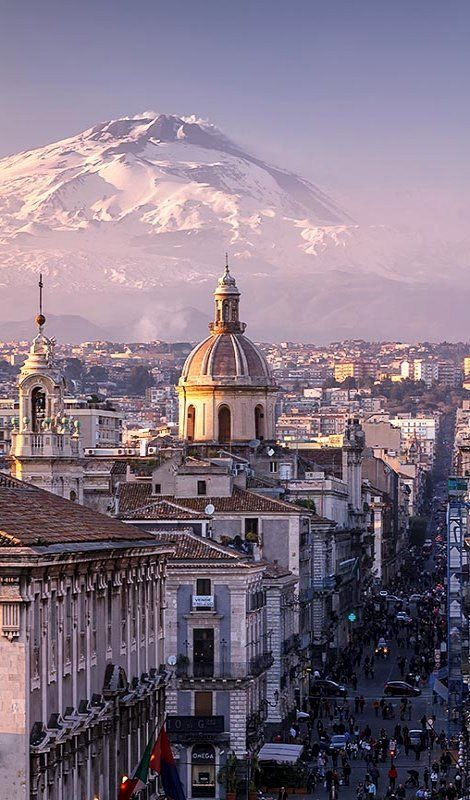 Catania and Mount Etna ~ Sicily, Italy: