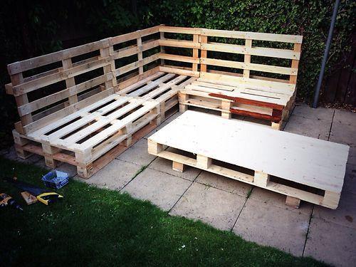 diy pallet garden furniture plans from pallets