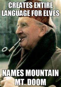 Bilderesultat for tolkien made up languages but named it Mount doom