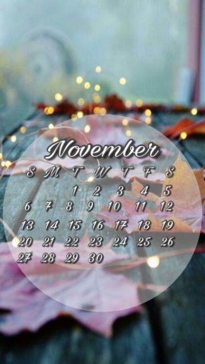 November 2016 calendar wallpaper for iPhone or android. Fall background   Calendar lock screens ...