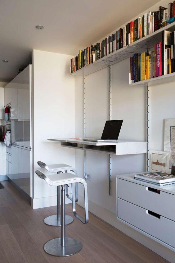 Workspace Or Kitchen Bar Just Remove The Laptop  Kitchen Office Pinterest Desks Home  H