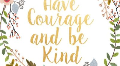 Have Courage And Be Kind Printable Art by PaperStormPrints on Etsy | Girls Bedrooms | Pinterest ...
