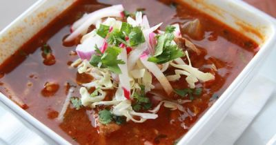Our delicious Red Pork Pozole soup. Simply delicious. | AZ - Delicious Dishes from Local AZ ...
