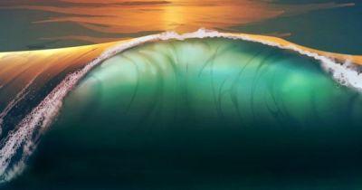 ~~Sunset beach sea waves | WallpapersCraft~~ | Water ~ Sea, Sand, Surf & Foam | Pinterest | Sea ...