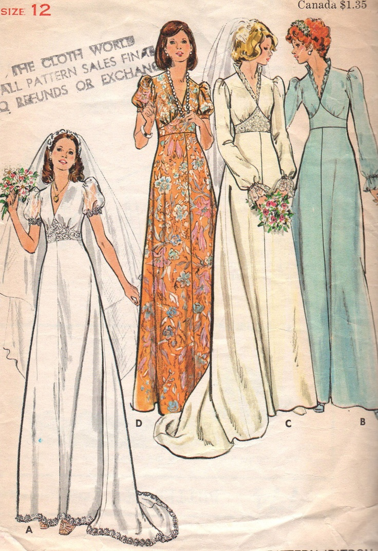 vintage wedding dress and evening gown patterns vintage wedding dress patterns Vintage Wedding Dress Pattern