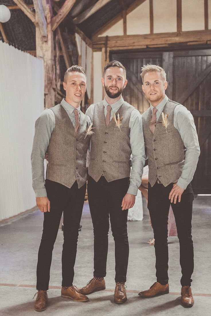 rustic wedding attire barn wedding dresses Gone are the days of boring plain suits and predictable attire for the Groom his