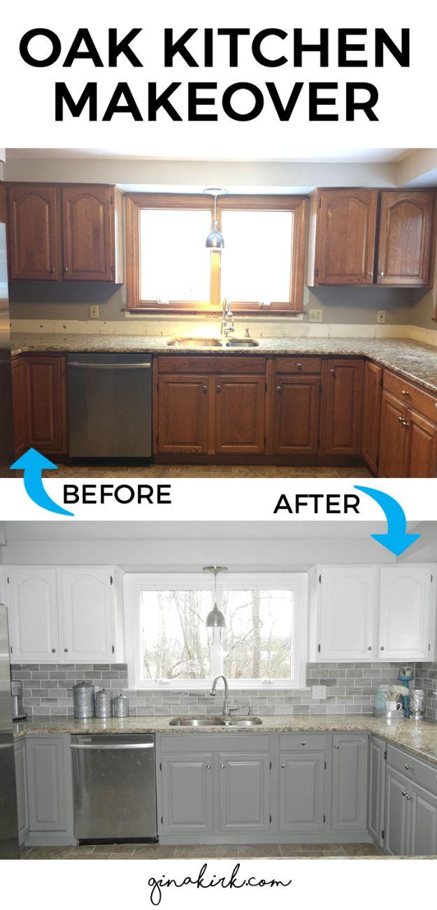 updating kitchen cabinets inexpensive kitchen countertops 37 Brilliant DIY Kitchen Makeover Ideas