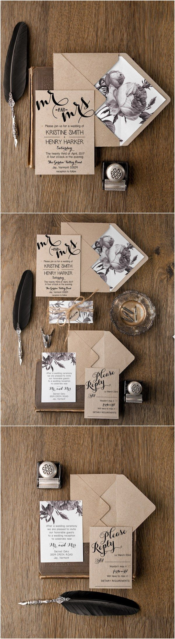 wedding invitations cute wedding invitations Rustic simple wedding invitations Still masculine enough for Ian and his man but classy and super pretty