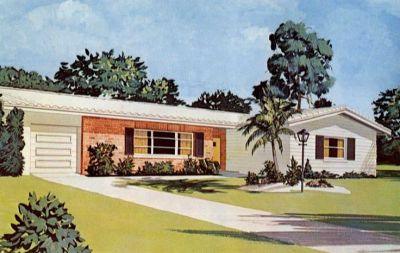 1960s homes   ... and the dining room and adjacent patio ...