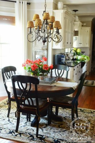 white kitchen table set kitchen tables THE SUMMER FARMHOUSE KITCHEN