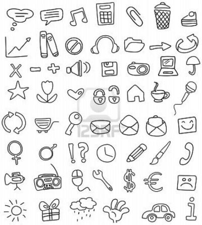 simple yet fun doodles taken from: http://www.123rf.com/photo_7211463_doodle-icon-set.html ...