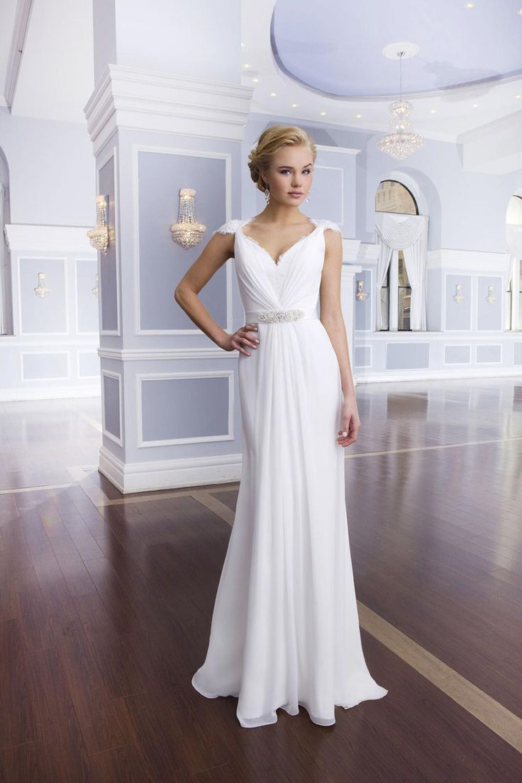 grecian wedding dresses greek goddess wedding dress Column wedding dress from Lillian West
