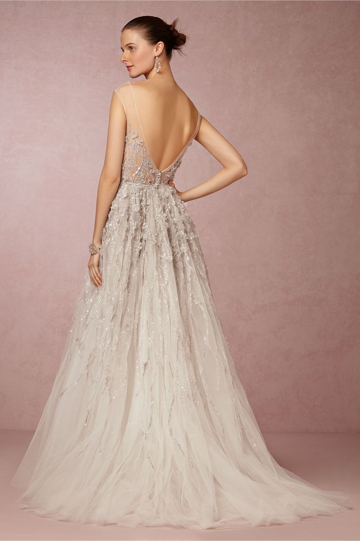 bhldn wedding dress colored wedding dress Wisteria Gown in Bride Wedding Dresses at BHLDN The perfect dress for a GardenWedding
