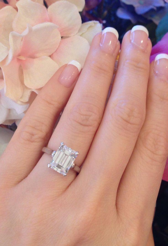 rings wedding rings ebay Perfection Tiffany Co 3 86 Ct GIA VS2 G Emerald Cut Platinum Diamond Engagement Ring