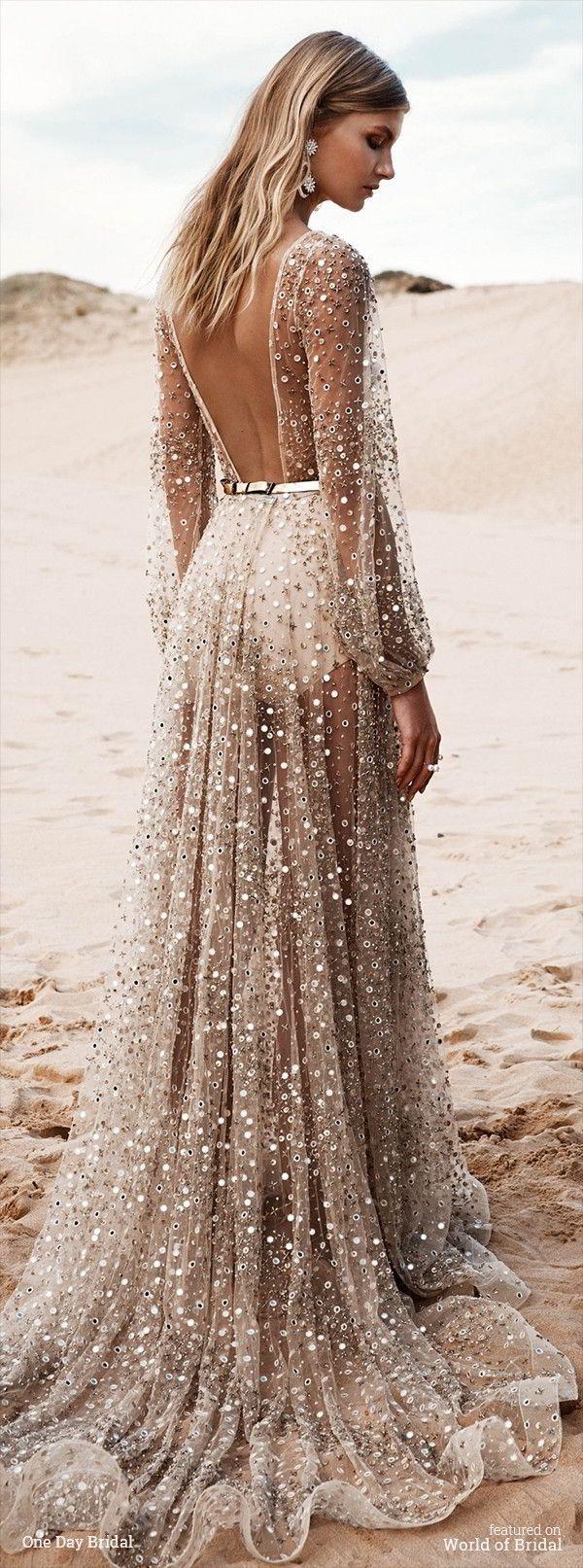 most beautiful dresses beige wedding dress CAMI Beige Blonde Hair Russet Brown Eyes Stunning Wedding Dresses