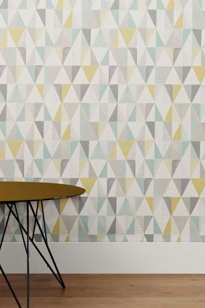 17 Best ideas about Geometric Wallpaper on Pinterest | Graphic wallpaper, Living room interior ...