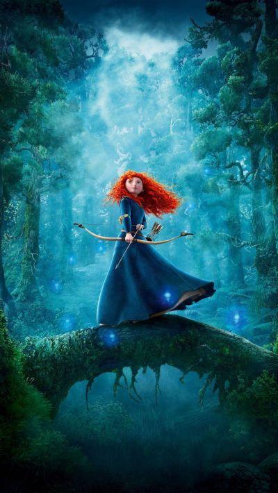 Princess Merida-brave-archer-female-cartoon- http://c.mwp4.me/media/wallpapers_1080x1920 ...