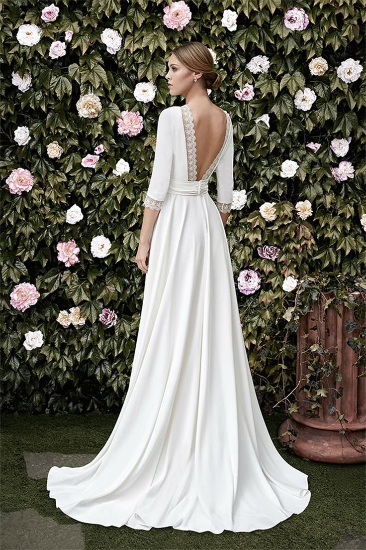 wedding dress silhouette classy wedding dresses Garden of Eden Wedding Dresses CRISTINA TAMBORERO SPRING BRIDAL www elegantwedding ca